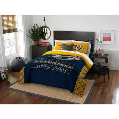 Predators Draft 3-Piece Multi-Color Polyester Full/Queen Comforter Set