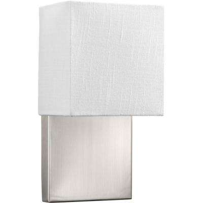 LED Sconces Collection 9 -Watt Brushed Nickel Integrated LED Sconce