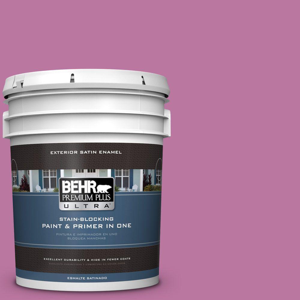 BEHR Premium Plus Ultra 5-gal. #690B-5 Valentine Heart Satin Enamel Exterior Paint