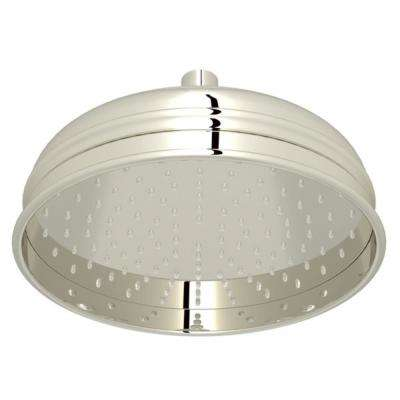 Bordano 1-Spray 8 in. Fixed Showerhead in Polished Nickel