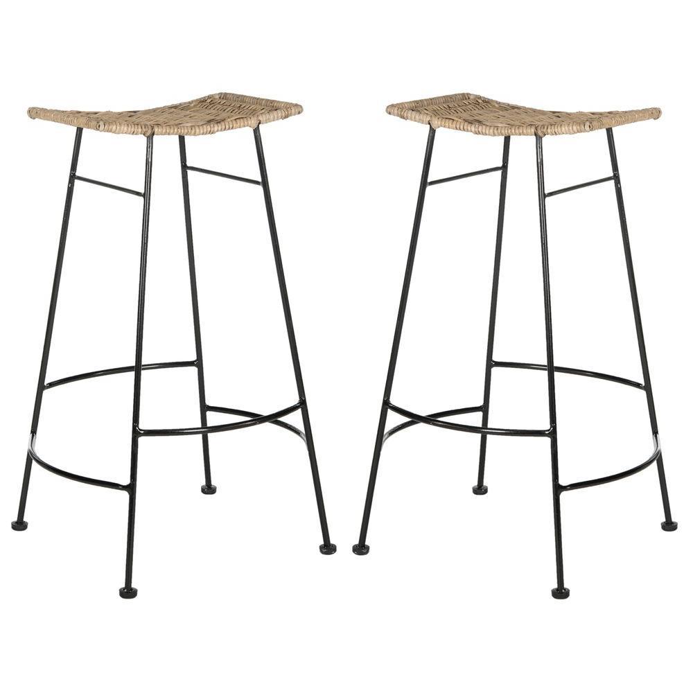 Safavieh Atara 30 in Gray Bar Stool Set of 2 SEA8005A  : grey safavieh bar stools sea8005a set2 641000 from www.homedepot.com size 1000 x 1000 jpeg 51kB