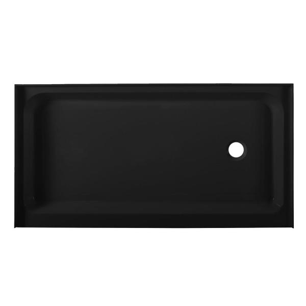 Voltaire 60 in. x 32 in. Single Threshold Right-Hand Drain Shower Base in Black