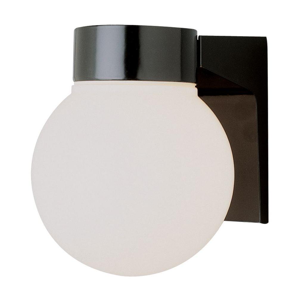 Stewart 1-Light Black CFL Wall Sconce