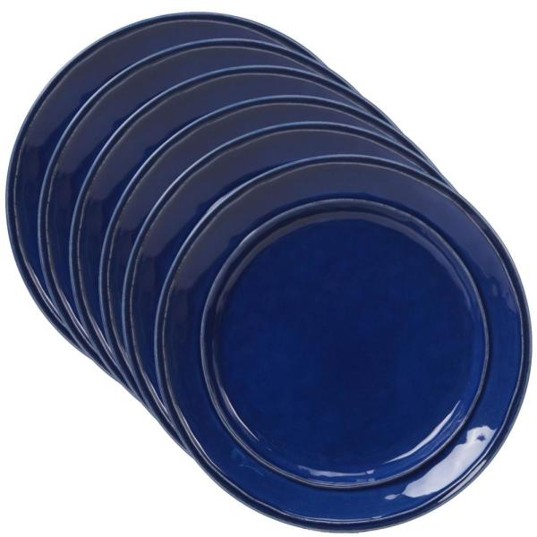 Certified International Orbit 6-Piece Cobalt Blue 9 in. Salad Plate Set