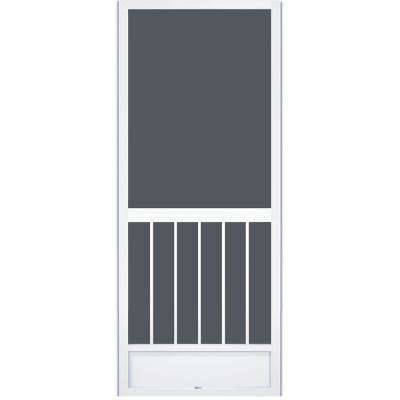 36 in. x 80 in. Westmore White Aluminum Screen Door