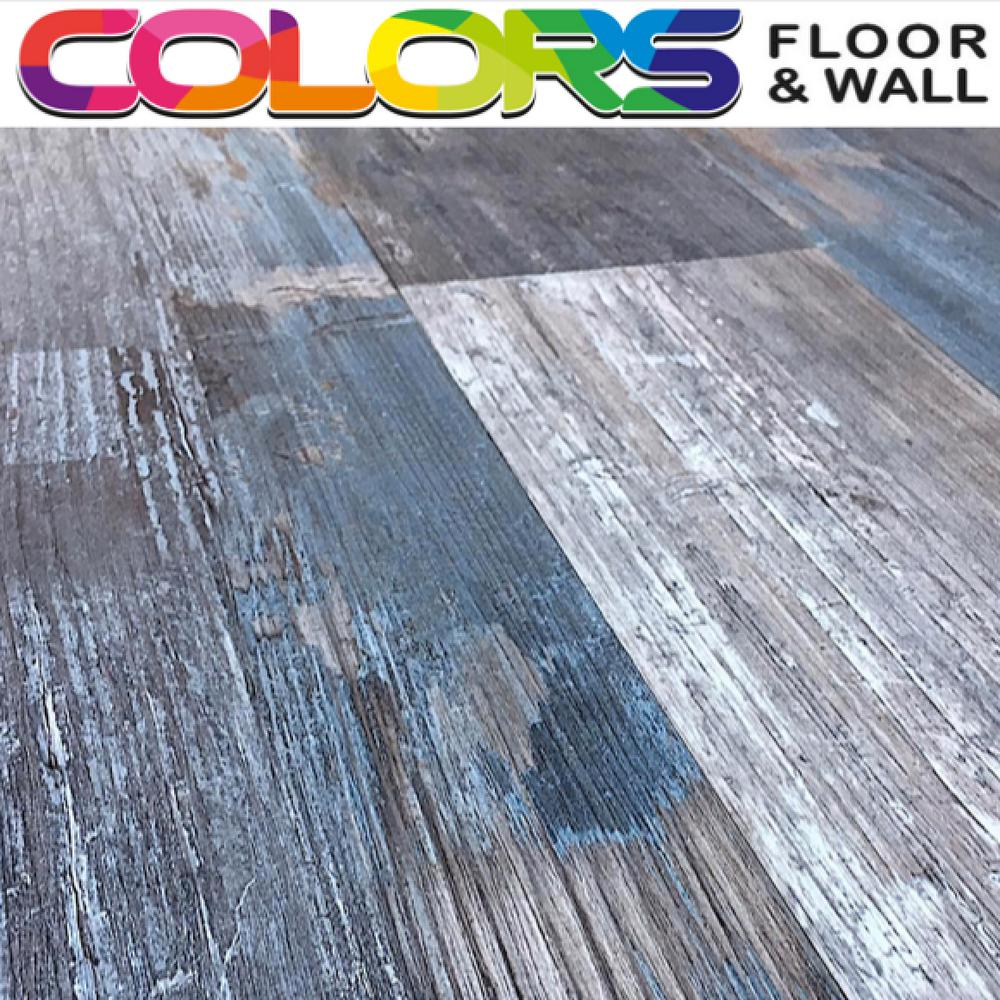 Deco Products Colors Floor and Wall DIY Rumba Wood Aged 6 in. x 36 in. Painted Style Luxury Vinyl Plank (30 sq. ft. / case)