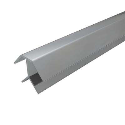 4 ft. Silver Aluminum Corner Profile (2-Pieces)