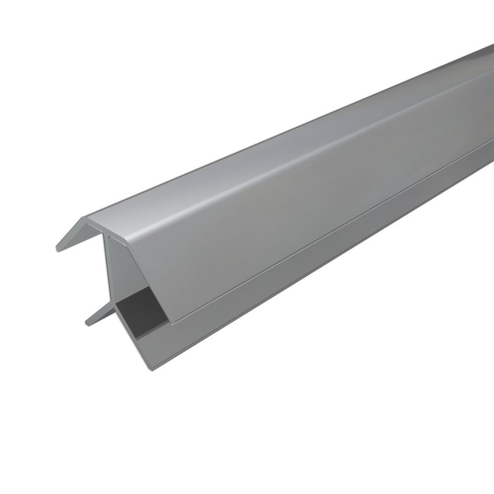 4 ft. Silver Aluminum Corner Profile (2-Pieces)