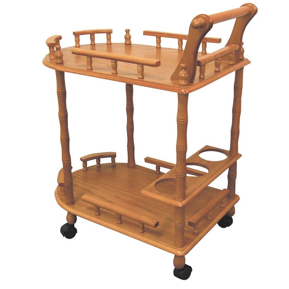 Oak (Brown) Wine Cart