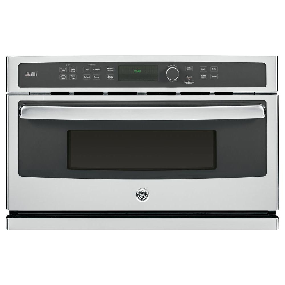 Ge Profile Advantium 30 In Single Electric Wall Oven With Sd Cook And Convection