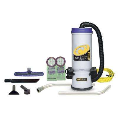 Super CoachVac HEPA 10 qt. Backpack Vac with Xover Multi-Surface 2-Piece Wand Tool Kit