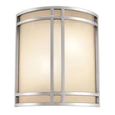 Artemis 2 Light Satin Sconce with Opal Glass Shade