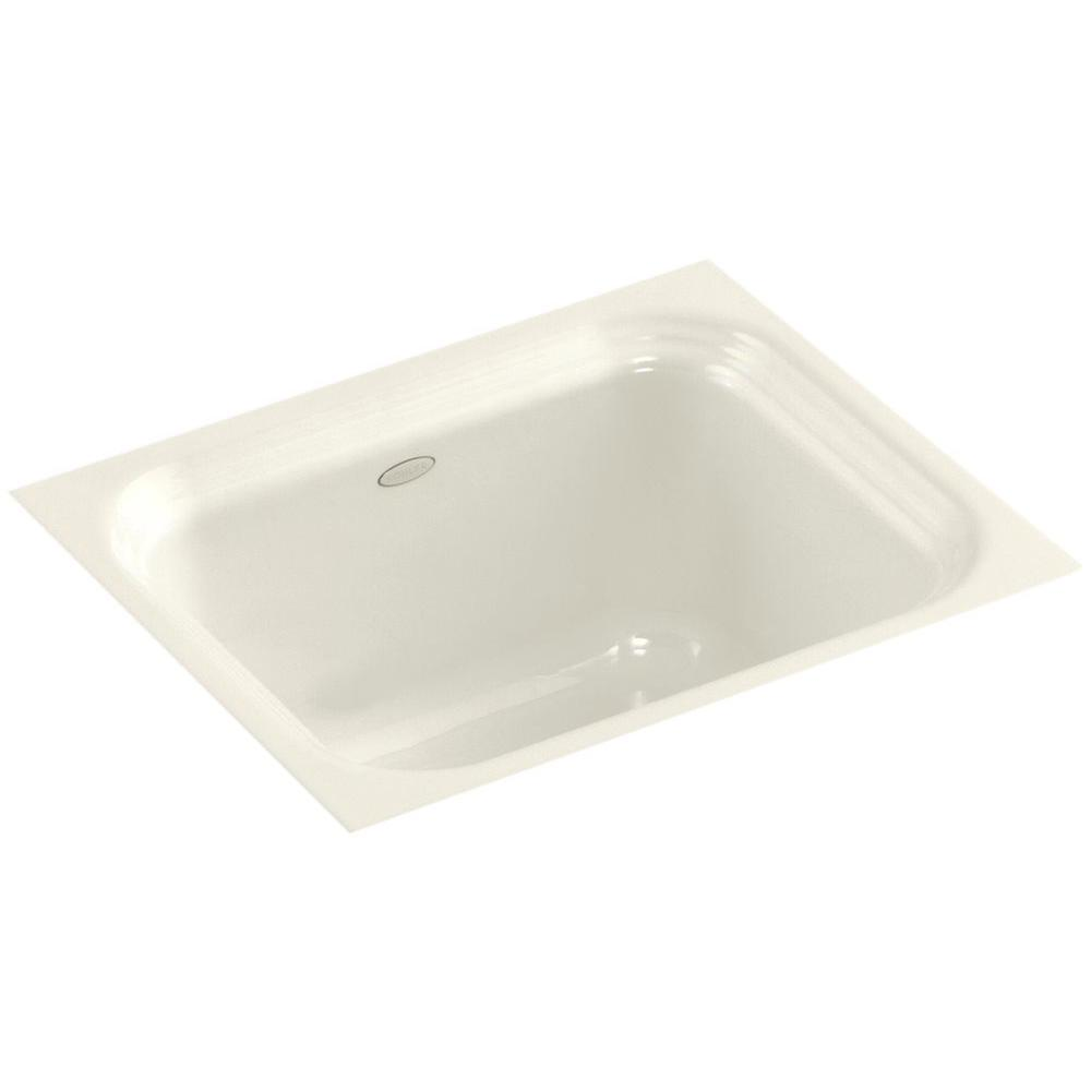KOHLER Northland Undermount Cast Iron 15 in. Single Basin Bar Sink in Biscuit