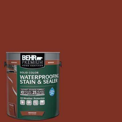 1 gal. Redwood Solid Color Waterproofing Stain and Sealer