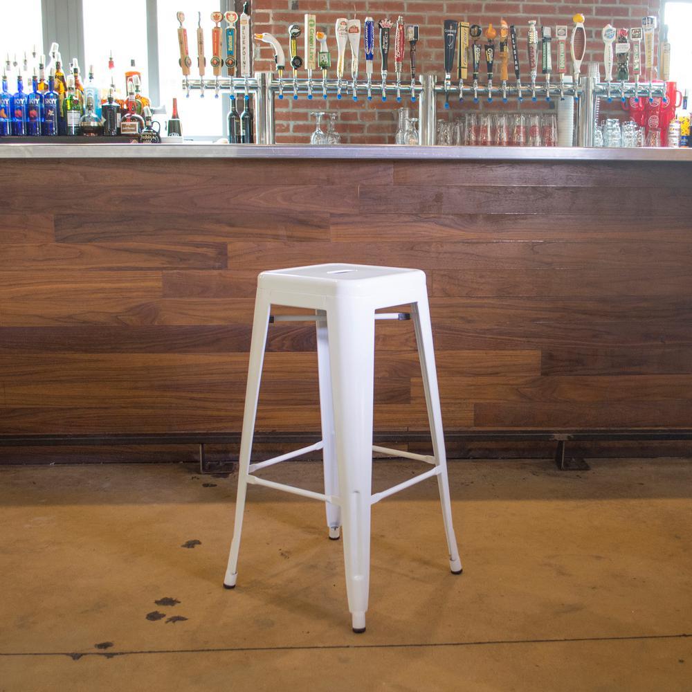 Amerihome Loft Style 30 In Stackable Metal Bar Stool In
