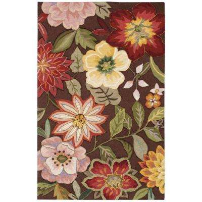 Spring Blossom Chocolate 4 ft. x 6 ft. Area Rug