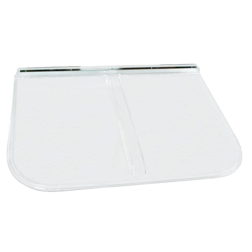 Shape products 53 in x 38 in polycarbonate rectangular for Window cover for home