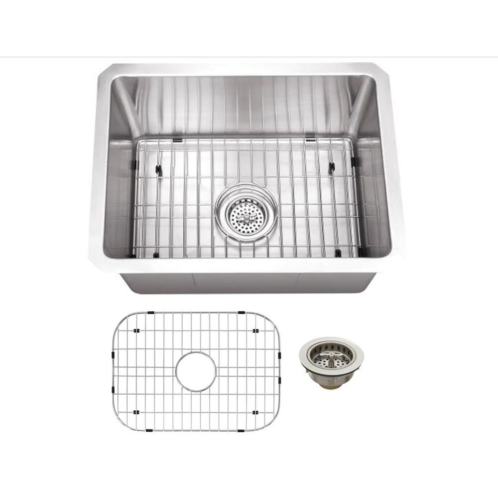 Schon All In One Undermount Stainless Steel 15 In 0 Hole