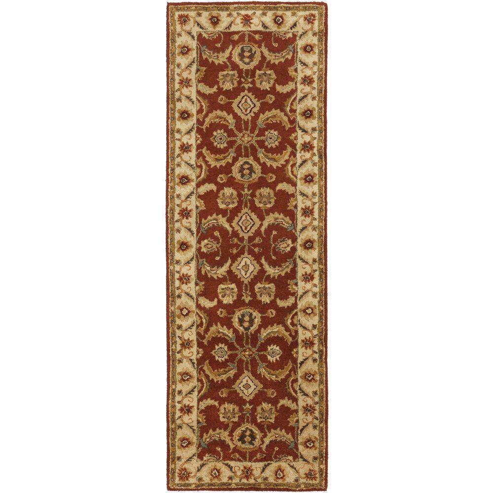 artistic weavers aelia burgundy 2 ft 6 in x 8 ft indoor rug runner s00151000055 the home depot. Black Bedroom Furniture Sets. Home Design Ideas