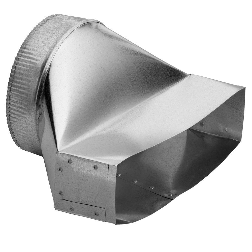 Broan 3-1/4 in. x 14 in. to 8 in. Round Galvanized Steel Duct ...