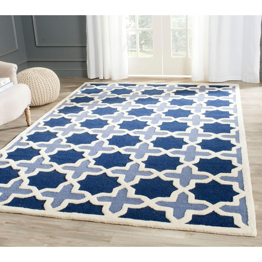 Safavieh Cambridge Blue Ivory 10 Ft X 14 Ft Area Rug