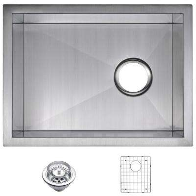 Undermount Zero Radius Stainless Steel 15x20x10 0 Hole Single Bowl Bar Sink  With Strainer And