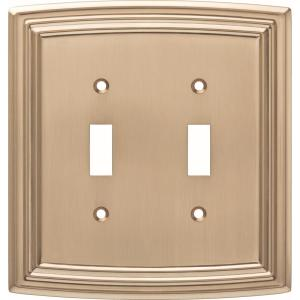 Liberty Bronze 1 Gang Toggle Wall Plate 1 Pack W36396 Cz C The Home Depot
