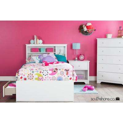 Vito Twin-Size Bookcase Headboard in Pure White