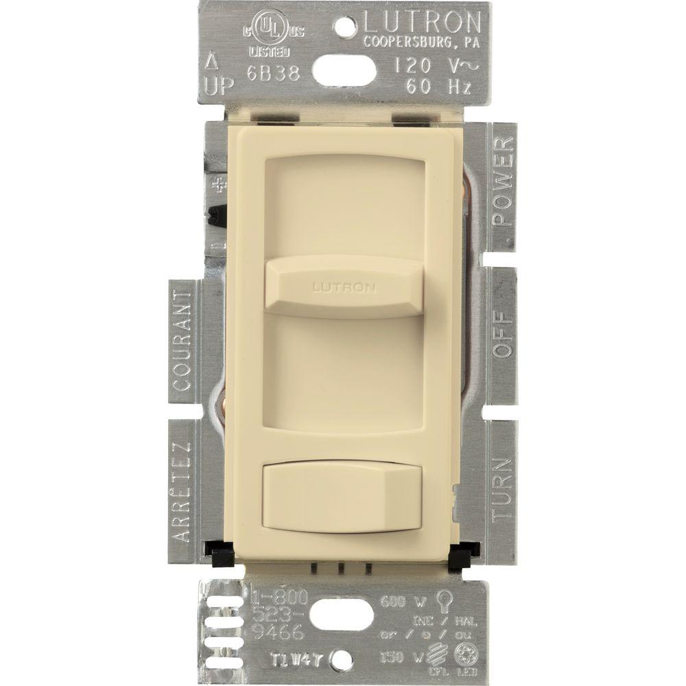 Lutron Skylark Contour 150-Watt Single-Pole/3-Way CFL-LED Dimmer - Ivory
