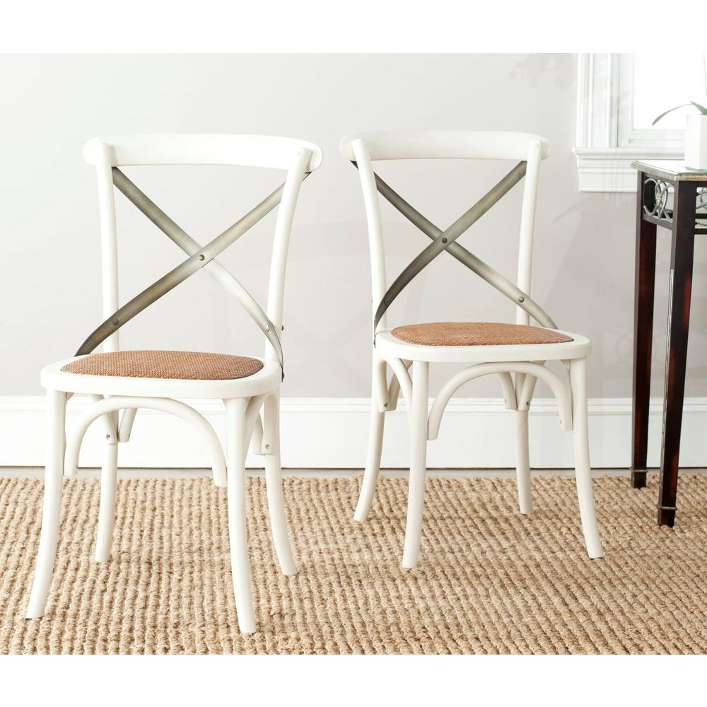 Safavieh Eleanor Ivory X Back Side Chair (Set Of 2)