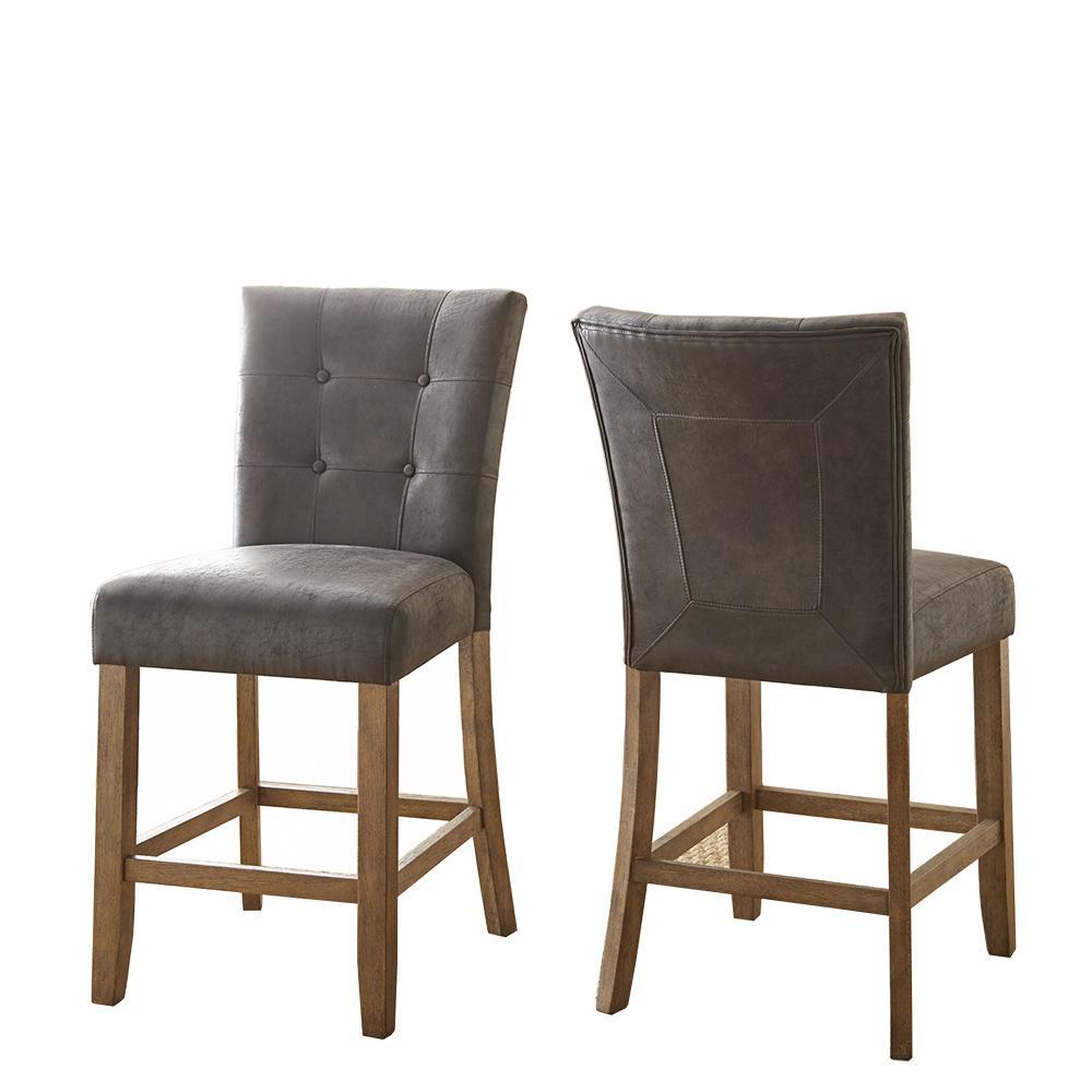 Amazing Debby Counter Chair Grey Set Of 2 Ibusinesslaw Wood Chair Design Ideas Ibusinesslaworg