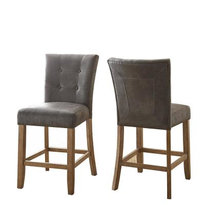 Debby Counter Chair Grey (Set of 2)