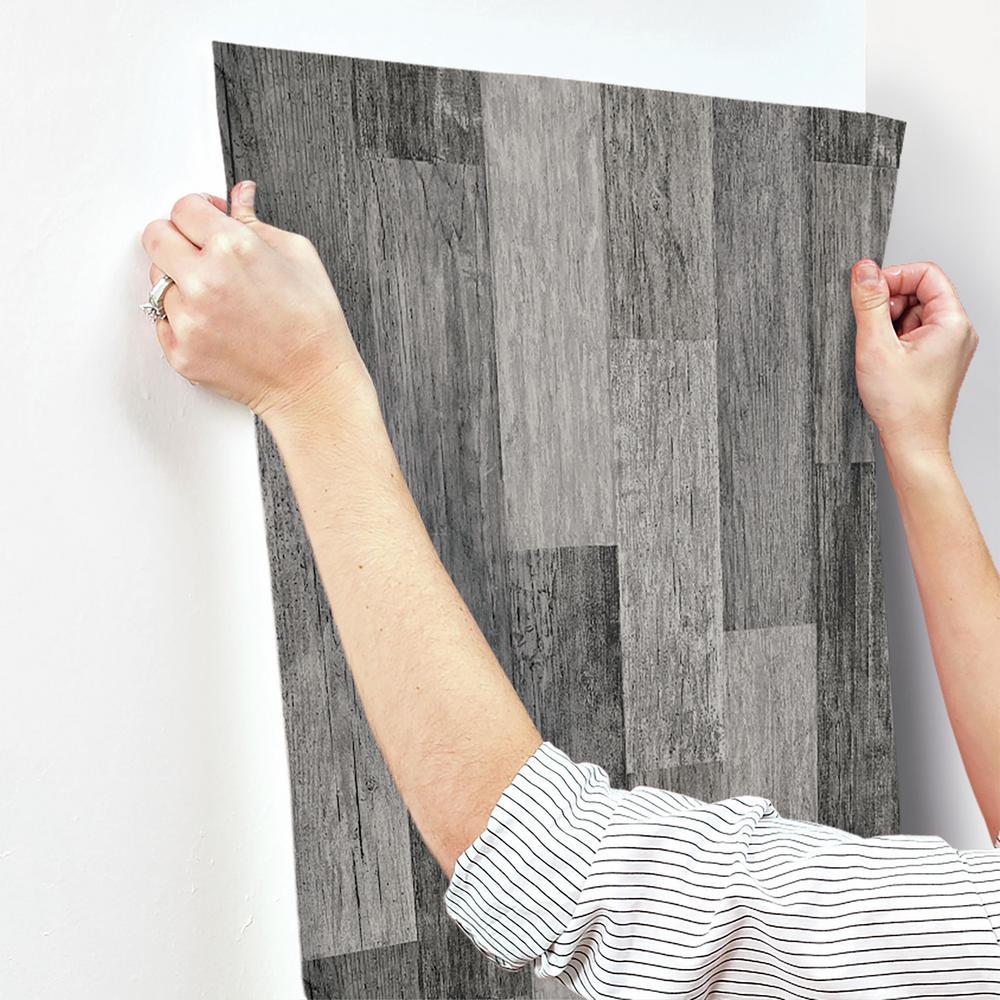 Black RoomMates RMK11210WP Peel and Stick Wallpaper