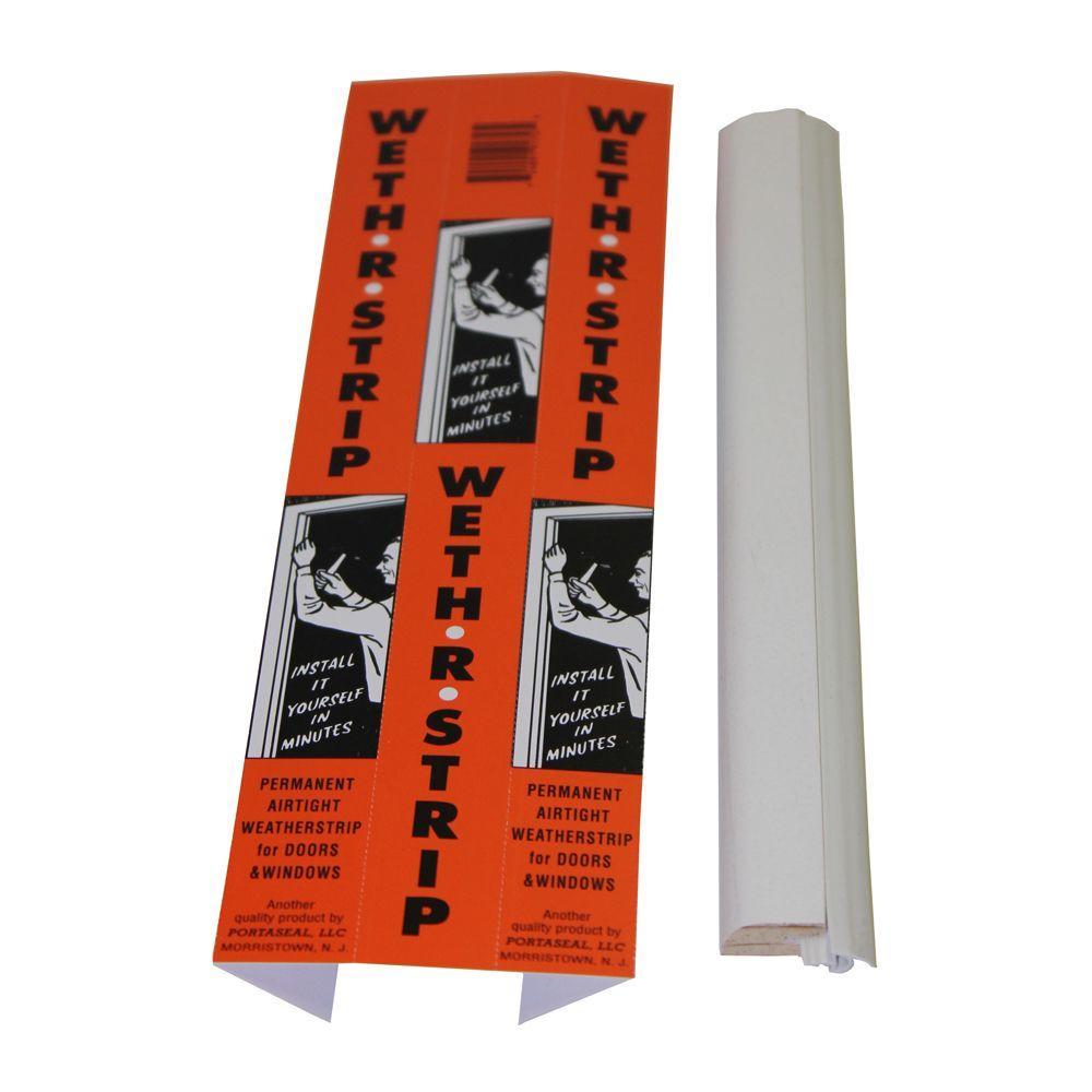PortaSeal Weth-R-Strip 1 in. x 84 in. Vinyl and Pine Moulding Weather Strip