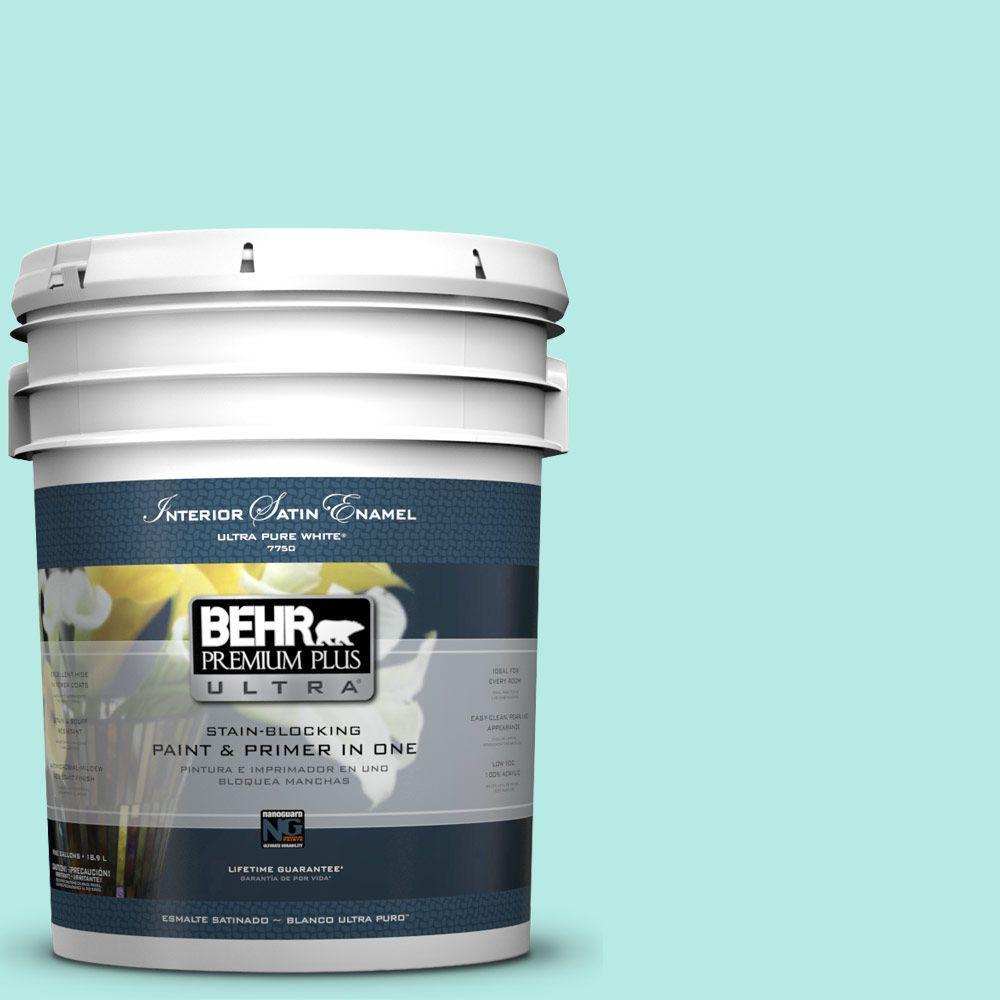 BEHR Premium Plus Ultra 5-gal. #P450-2 Tahitian Breeze Satin Enamel Interior Paint