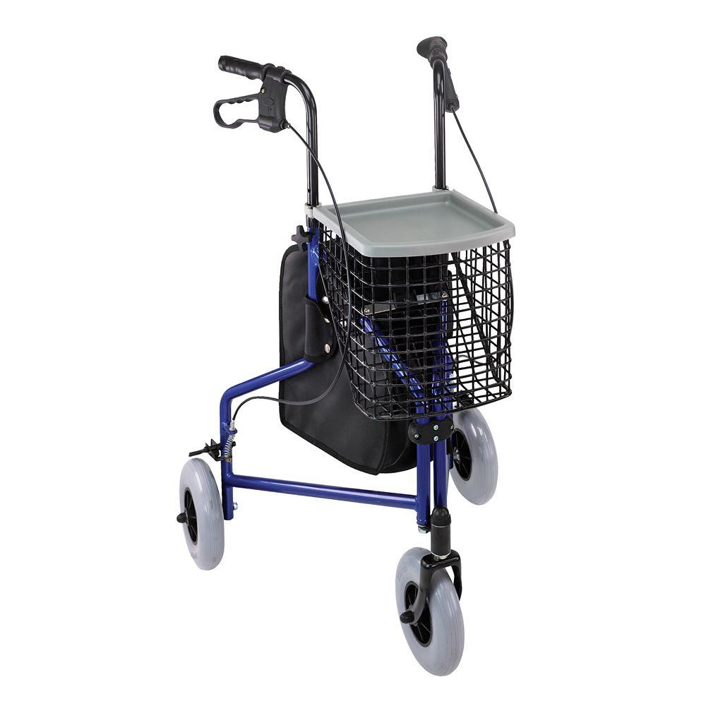 Compact 3-Wheel Rollator in Aluminum