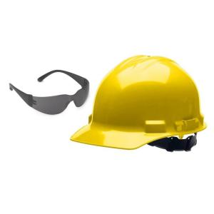 Click here to buy Cordova Duo Safety Hard Hat with Free Safety Glasses by Cordova.
