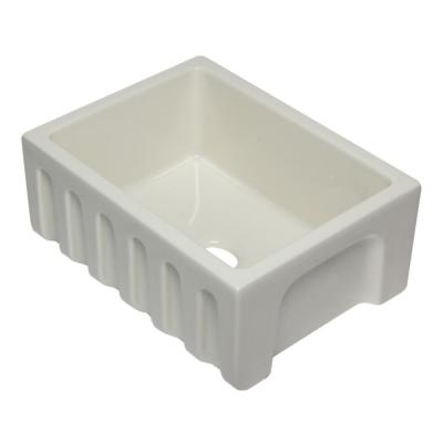 AB2418HS-B Farmhouse Fireclay 24 in. Single Bowl Kitchen Sink in Biscuit