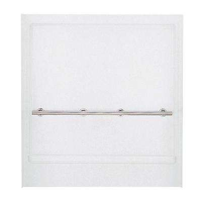Roll-In 1-1/4 in. x 39-1/8 in. x 65-9/16 in. 1-piece Direct-to-Stud Shower Back Wall in White