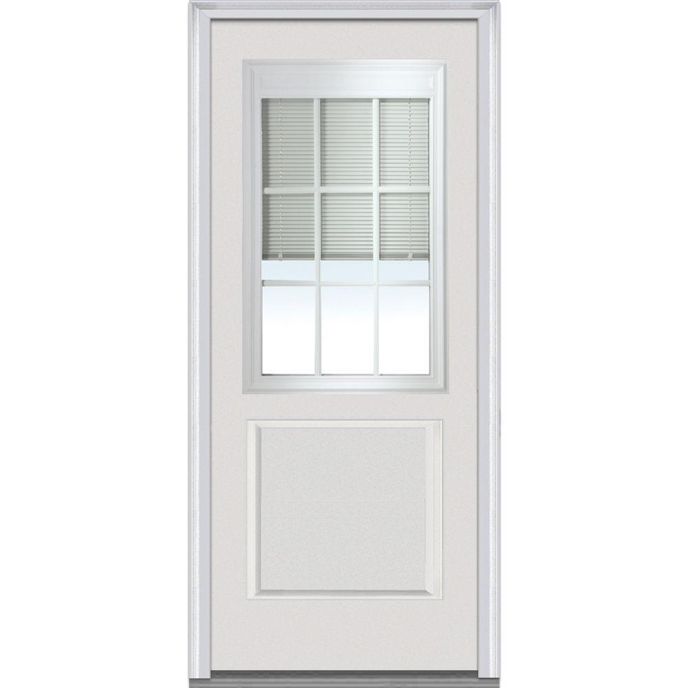 Mmi Door 36 In X 80 In Rlb Right Hand 1 2 Lite 1 Panel