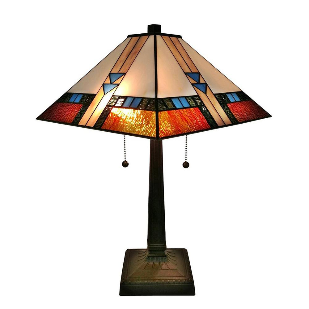 Amora Lighting 23 in. Multicolored Table Lamp