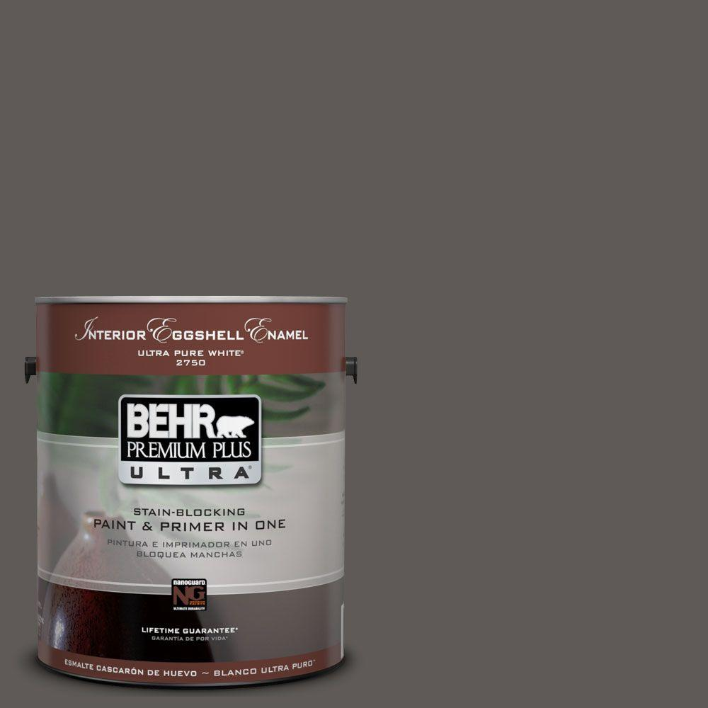 BEHR Premium Plus Ultra 1-Gal. #UL260-2 Intellectual Interior Eggshell Enamel Paint