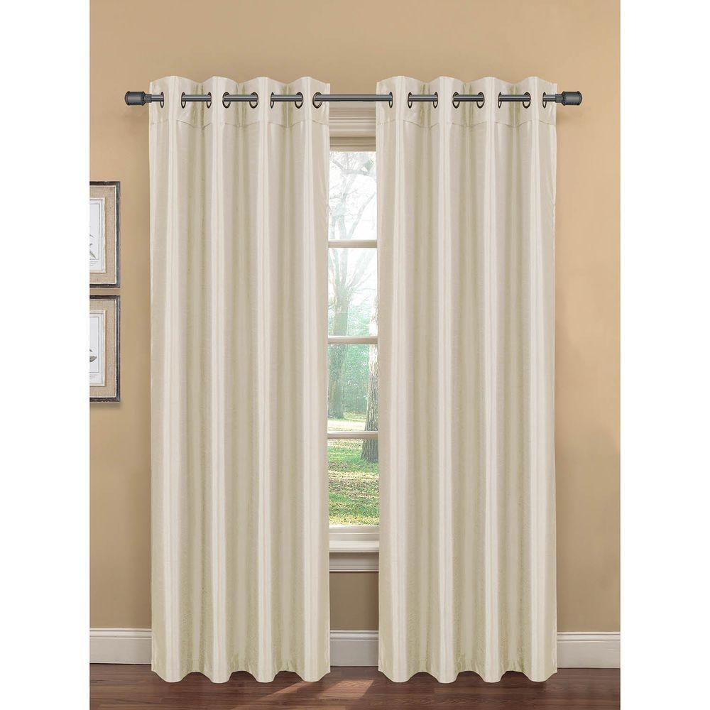 Semi-Opaque Becca Faux Silk Room Darkening Grommet Extra Wide Curtain Panel
