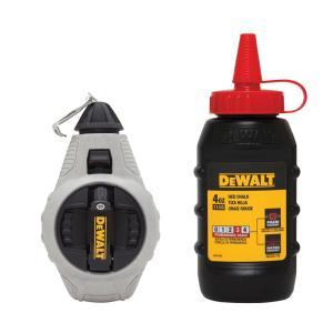 Dewalt 100 ft. Chalk Reel with Red Chalk by DEWALT