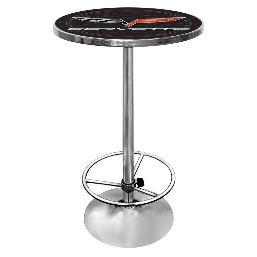 Trademark Corvette Black Pub/Bar Table GM2000-C6-COR