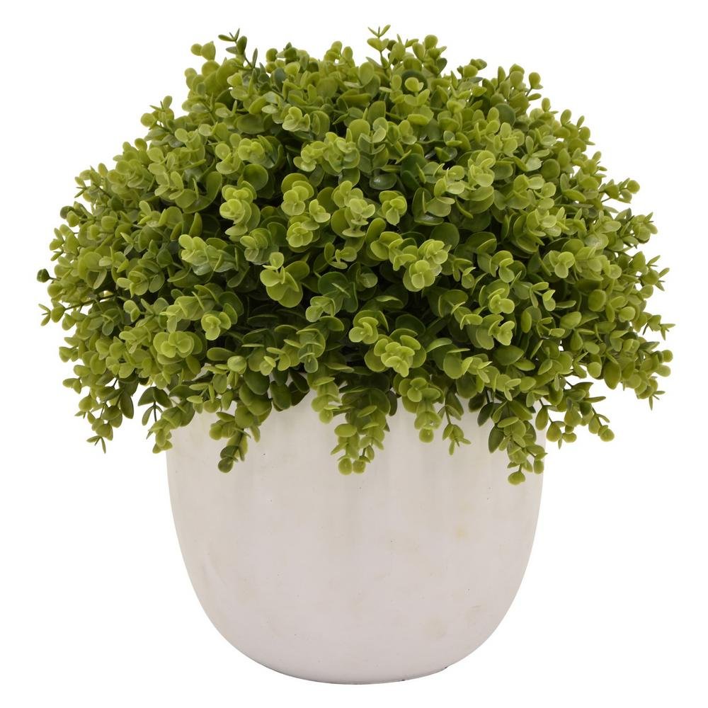 16.5 in. Green Faux Topiary Pot