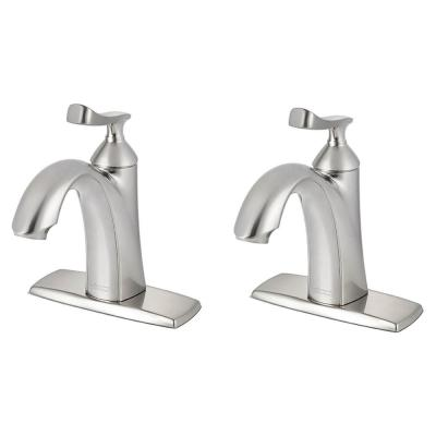 Chatfield Single Hole Single-Handle Bathroom Faucet (Set of 2) in Brushed Nickel