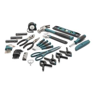 Tool Kit with Plastic Toolbox Carbon Steel Hand Socket Wrench Set TRENDBOX 46-Piece Tool Set