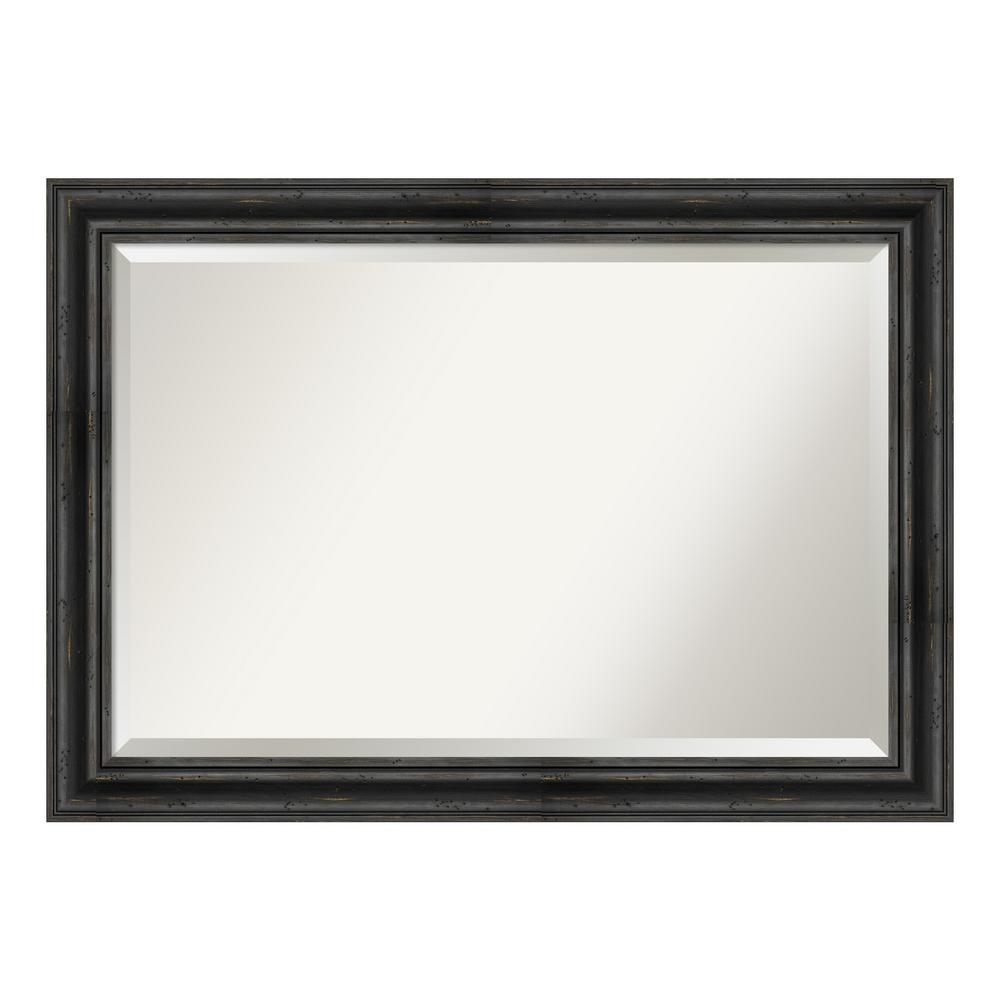 Amanti Art Rustic Pine Black Bathroom Vanity Mirror