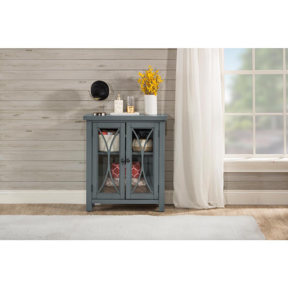 Hillsdale Furniture Bayside Robin Egg Blue 2 Door Cabinet
